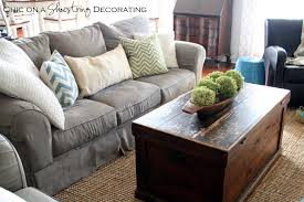 chic on a shoestring decorating my farmhouse chic living room reveal