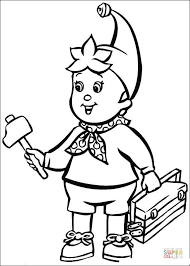 tool coloring pages noddy brings a hammer and the tools coloring page free printable