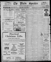 Plain Speaker Hazleton Pennsylvania December 23 1896