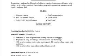 Resume Electrician Sample by Marine Resume Sample Reentrycorps