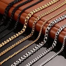titanium link necklace images Vnox men 39 s chain necklace 24 30 inch long necklace 3 5 7mm wide jpg