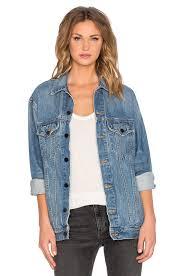Light Jean Jacket Denim X Alexander Wang Daze Oversized Jean Jacket In Light Indigo