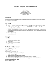 Sample Graphic Design Resume by Excellent Graphic Designer Resume Template Example With Key Skills