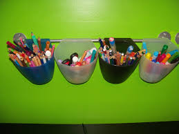 Kids Art Desk With Storage by Storage Idea For Kids Art Supplies Containers And Rod Were
