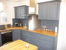 cuisine en chene repeinte cuisine repeinte en gris galerie avec cuisine en chene repeinte