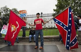 Flag Burning Protest Ugly Rebel Yell In Front Of The White House The Washington Post