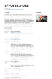 Event Manager Resume Examples by Events Coordinator Resume Samples Visualcv Resume Samples Database