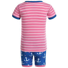 blue house by hatley shirt and shorts pajamas for