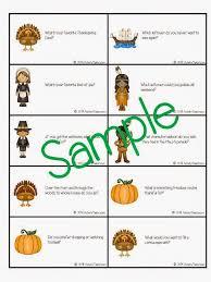 speechie freebies thanksgiving table topics