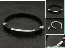bracelet magnetic stainless steel images Health magnetic energy black silicone stainless steel bracelet jpg
