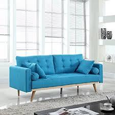 midcentury modern sofa amazon com mid century modern tufted linen fabric sofa light