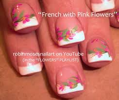 easy wedding nail art for short nails pink and white french