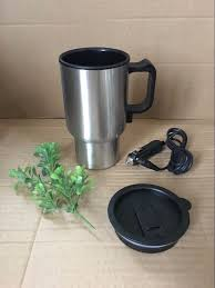 car electric travel mug 12v insulated stainless steel heated cup