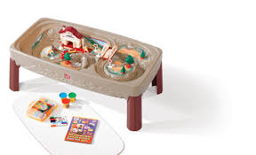 step 2 plastic train table deluxe action train table with lid step2 plastic children s toys greece