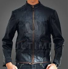 Cowhide Leather Vest Tron Legacy Garrett Hedlund Black Leather Jacket