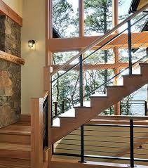 Interior Wood Railing Stairs Glamorous Wooden Stair Railing Interesting Wooden Stair