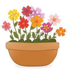 pot plant clipart beautiful flower pencil and in color pot plant