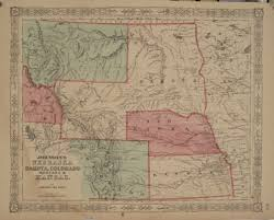 Map Of Montana And Wyoming by Antique Maps Of Nebraska