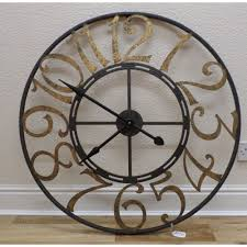 creative design large metal wall clock unusual inspiration ideas