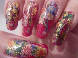 christmas xmas flower water decal nail art design on long u2026 flickr