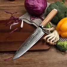 original damascus steel kitchen knife reviews online shopping