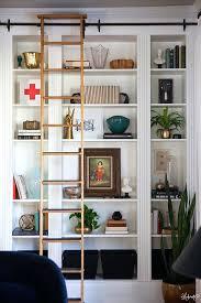 White Bookshelf With Glass Doors Bookcase Lauras Living Room Ikea Billy Bookshelves Hack Ikea
