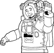 astronaut man coloring wecoloringpage