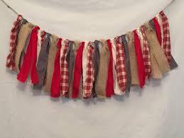 plaid christmas garland red plaid garland flannel