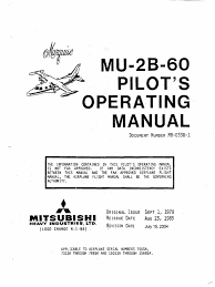 mitsubishi mu 2b 60 marquise pilot u0027s operating manual power