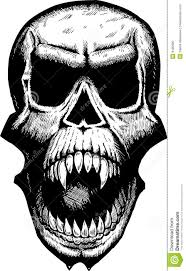 Scary Halloween Skeleton Scary Yelling Skull Royalty Free Stock Photo Image 8195995