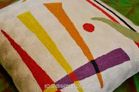Contemporary Throw Pillows For Sofa by Kandinsky U201csynaesthesia U201d Abstract Cream Pillow Cover Wool