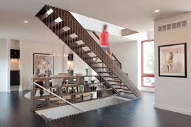 contemporary cable sleeves staircase contemporary with open
