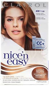 light caramel brown hair color clairol nice n easy permanent hair dye 6w 116b natural light