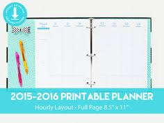 printable hourly planner 2016 printable planner in hourly layout with by printablestudio505