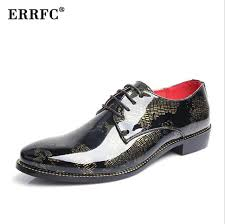 wedding shoes for groom errfc designer men black dress shoes gold shadow patent leather