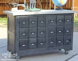 apothecary dresser diy industrial apothecary cart highstyle restyle