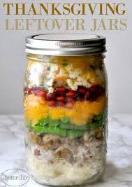 thanksgiving leftover jars home