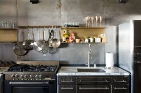 Modern Kitchen Cabinets Los Angeles by Steel And Brass Cover Nearly Every Surface Of This Industrial L A