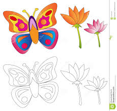 butterfly u0026 flowers coloring book stock image image 14741441