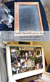 Upcycling Old Windows - how to create a picture collage and frame out of an old window