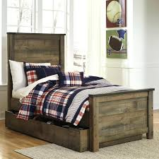 storage bed with trundle signature design by rustic look twin