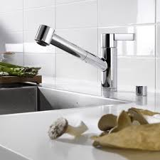 hello modern luxury kitchen faucet nickel brushed single lever