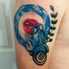 6 nice scooter tattoo designs