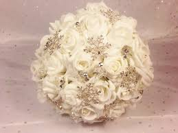 bridal bouquet kym snowflake bridal bouquet for your winter wedding