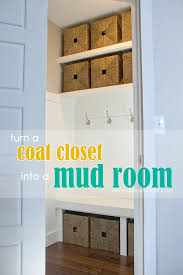 turn a coat closet into the perfect mudroom make it and love it