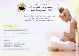 attend the afrocentric pregnancy and baby care fair