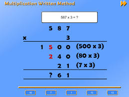 multiply two digit and three digit numbers by a one digit number