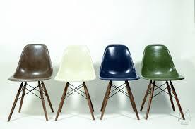 eames herman miller multi color set with walnut legs