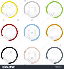 flat chair icon on sticker floor stock vector 380021962 shutterstock