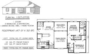 House Plans 1 1 2 Story 1 Story 2 Bedroom House Plans One Bath 3 Soiaya